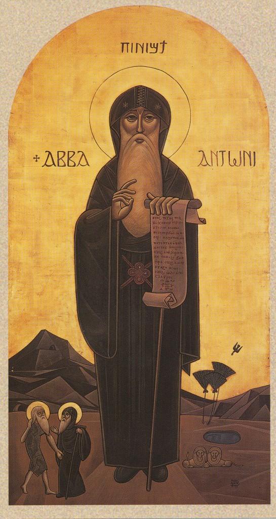 3. St Antonius. Ikon målad av Issac Fanous