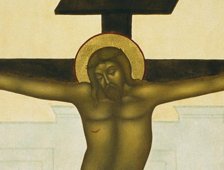 """""""Skönheten skall frälsa världen"""". Detalj ur Korsfästelsen. 37 x 31 cm. Ikon målad av Lars Gerdmar. Fot: Bo Wiberg."""