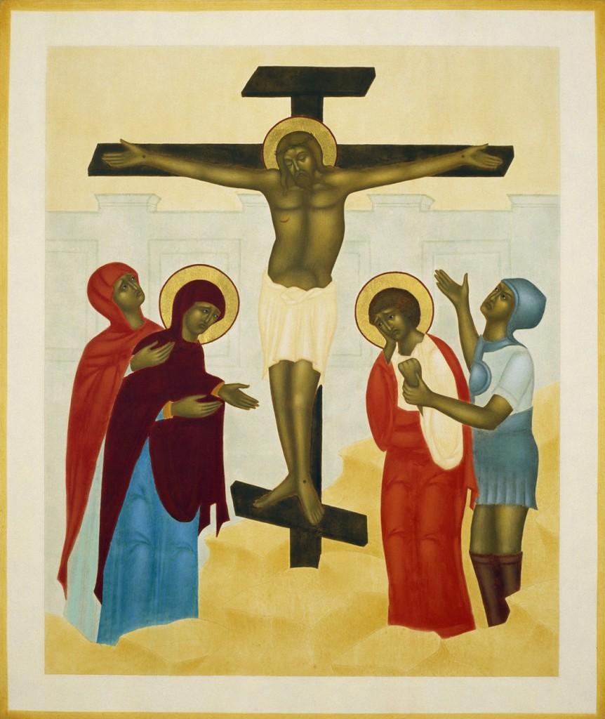 Korsfästelsen. 37 x 31 cm. Ikon målad av Lars Gerdmar. Foto: Bo Wiberg.
