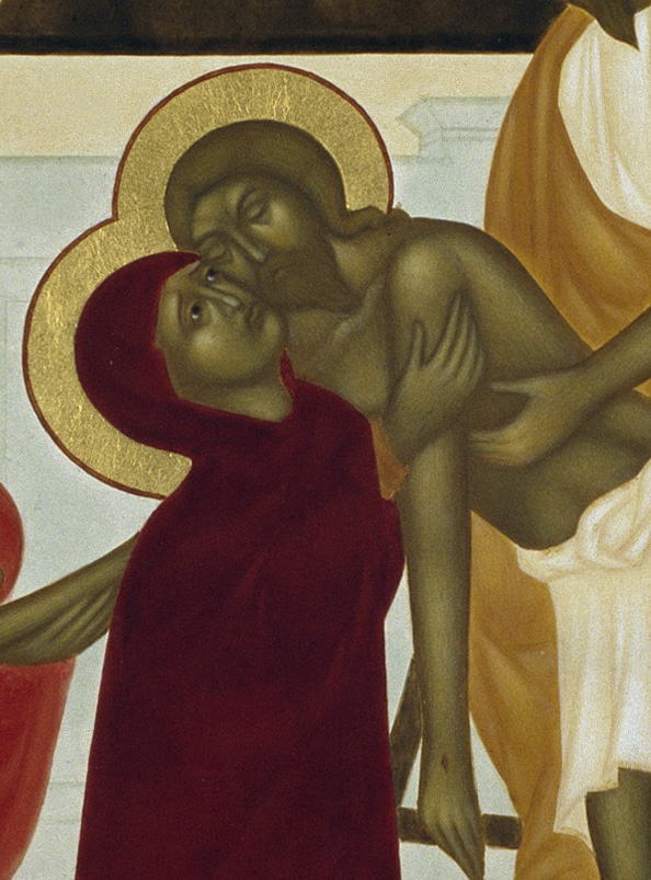 Guds moder Maria och hennes son.