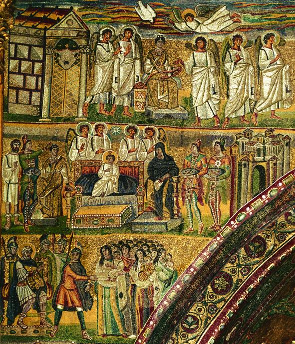 2. Santa Maria Maggiori. Roman-Byzantine Mosaic. 5th century  kopia 2