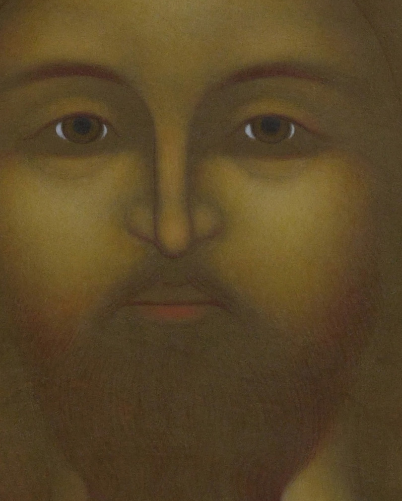 5. Kristus Pantokrator med den brinnande blicken. Ikon målad av Lars Gerdmar, 2015. 47 x 38 cm. Foto, Mattias Piltz. Lunds stiftskansli